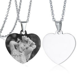 Personalized Women Necklace Pendant Love Heart Tag Daughter#x27;s Gift Xmas Birthday $13.77