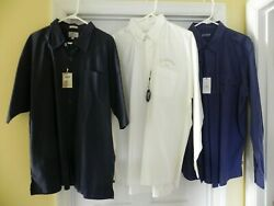 Two New Callaway Golf Polo Shirts And One New Chaps Mens Xl Shirts Great Buy