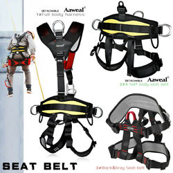 Full/half Body Safety Rock Climbing Arborist Tree Rappelling Harness Seat Belt