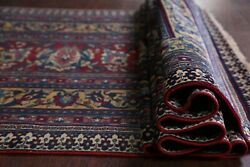 Pre-1900 Antique Vegetable Dye 19 Ft Long Runner Floral Dorokhsh Wool Rug 4and039x19and039