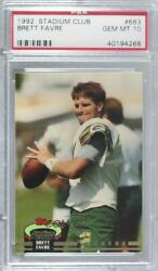 1992 Topps Stadium Club #683 Brett Favre PSA 10 GEM MT Green Bay Packers Card