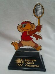 1984 Olympic Champion Trophy Tennis Sam The Eagle Applause Usps Transport