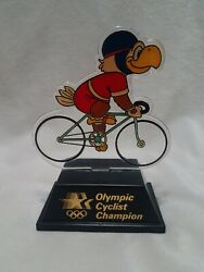 1984 Olympic Champion Trophy Cyclist Road Sam The Eagle Applause Usps Transport