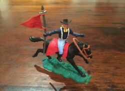 Timpo 1st Series Union/ Us 7th Cavalry - Mounted Flagman - Wild West - 1970and039s