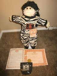 1989 Cabbage Patch Kids Amber Edition Zebra Halloween Doll Soft Sculpture 23