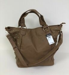 New - Rue21  Cream Beige Faux Leather Large Tote Purse Bag NWT! Retail $29.99 $11.99