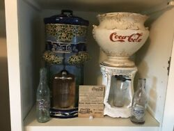 THE COLA WARS - 1896 Coca-Cola & 1905 PepsI Ceramic Syrup Dispensers