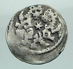 1205 Hungary Medieval Silver Coin Of Andrew Ii With Jewish Star Of David I80418