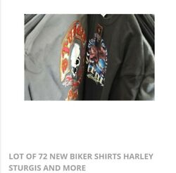 Lot Of 72 New Biker Shirts Harley Davidson Sturgis And More Sizes Vary 1400 +