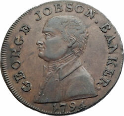 1794 England Northampton Conder Token Coin George Jobson Banker And Castle I80289