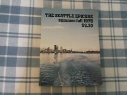 The Seattle Epicure Summer Fall 1975 Softcover Book Vgc Vintage Restaurant Menus