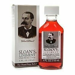 Fast Healing Sloans Liniment Prevents Cramps Swelling And Muscle Pain 4 Oz