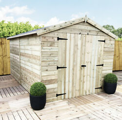 12 X 8 Premier Tongue And Groove Apex Shed - Double Door - Windowless