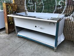 """5ft 60"""" All Stainless Steel Steam Table 4 Pan Nat Gas - 20k Btu - Nsf Approved"""