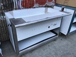 """4ft 48"""" All Stainless Steel Steam Table 3 Pan, Nat Gas - 20k Btu - Nsf Approved"""