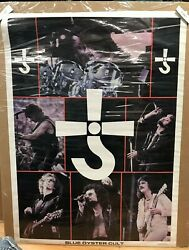 Vintage Blue Oyster Cult Large 1978 Rock And Roll Large Collage Poster Rare