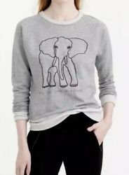 207. J.  Garments For Good David Sheldrick Wildlife Trust Elephant Sweatshirt M
