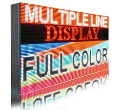 Wifi P6 17 X 31 Full Color Pc Programmable 3d Image/text Bright Business Sign