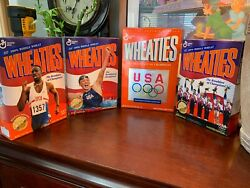 Wheaties Cereal Box Rare Olympic Lot Of 4 Factory Sealed Boxes Vintage Bundle