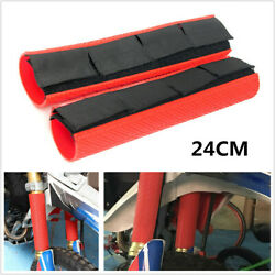 24cm Length Motorcycle Bike Front Fork Dust-proof Cover Gaiters Boots Waterproof