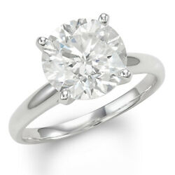 Christmas Special 4 Ctw Diamond Solitaire Engagement Ring in 14k White Gold