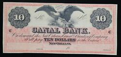 10 Canal Bank Of New Orleans Canal And Banking Company Remainder Note La-1570-32