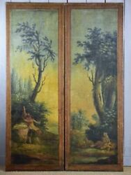 Pair of very large 18th Century panels