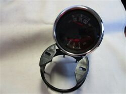 Faria Gfc412a Water Temp And Fuel Level Gauge Black Face Chrome Bezel Marine Boat