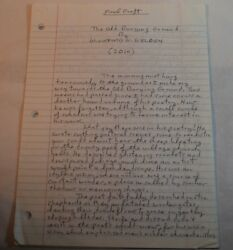 The Old Burying Ground Original Copyrighted Manuscript By Wickford Welden
