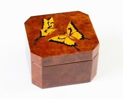Reuge Small Music Box Vivaldi The Four Seasons - Spring Butterfly Lid 5484