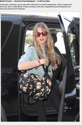 GIVENCHY Backpack Resort 18 Fall Coll Calfskin Floral Pattern $1320 Celeb Choice $549.99