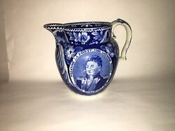 Lc3 Historical Staffordshire Welcome Lafayette Nations Guest Pitcher Ca. 1825
