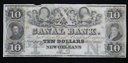 New Orleans Canal And Banking Co. 10 Louisiana Remainder Note La 1570-20