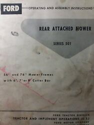 Ford Tractor Three-point Hitch Sickle Mower Ser 501 Owner And Service Parts Manual