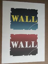 Robert Indiana Wall Two Stone Lithograph Hand Signed And Numbered 1990 Wow
