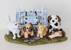 Wee Forest Folk Special Humane Society 2013 W/ Dogs And Cats Sold Out