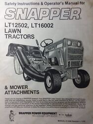 Snapper Lt/12 And Lt/16 Riding Lawn Garden Tractor And Mower Operators Manual Ser 2