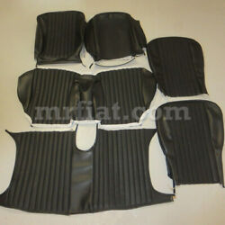Fiat Dino Spider 2000 1st Series Complete Black Seat Cover Set 1967-69 New