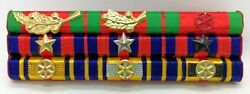 Cambodia Army Officer Military Medal Decoration Honors Ribbon Bar Rack 13