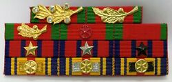 Cambodia Army Officer Military Medal Decoration Honors Ribbon Bar Rack 17