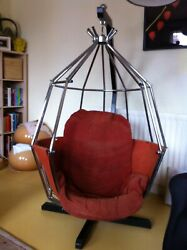 Original Vintage 1970and039s Ib Arberg Hanging Parrot Chair