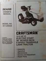 Sears Lawn Tractor 12.5 Owner Parts And Transaxle Service 2 Manual S 917.255520