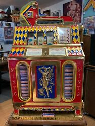 Vintage Old Mills 5 Cent   Slot-Machine Mint Dispenser Very Rare Find.