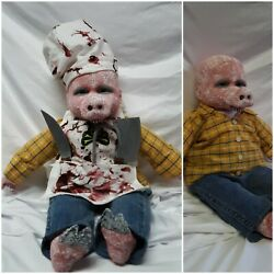 Killer Pig Zombie Baby Doll Halloween Haunted House Prop