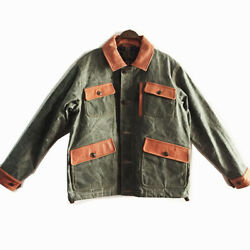 American Vintage Military Wwii Observer Heavy Oil Wax Heavy Four-pocket Jacket
