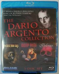 The Dario Argento Collection 3 Disc Blu ray Cat O#x27; Nine Tails Deep Red Inferno $32.84