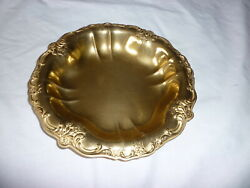 Antique Vintage 24k Gold Plated Tray