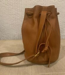 Vintage COACH Sonoma 4905 Tan Pebbled Leather Drawstring Bucket HANDBAG Purse $75.00