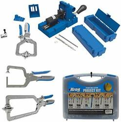 K5ms-kreg Jig Master System Wood Clamp With Pocket-hole Screw Kit And Clamp Bundle