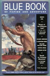 Blue Book Pulp March 1938- Kioga Of The Unknown Land F/vf